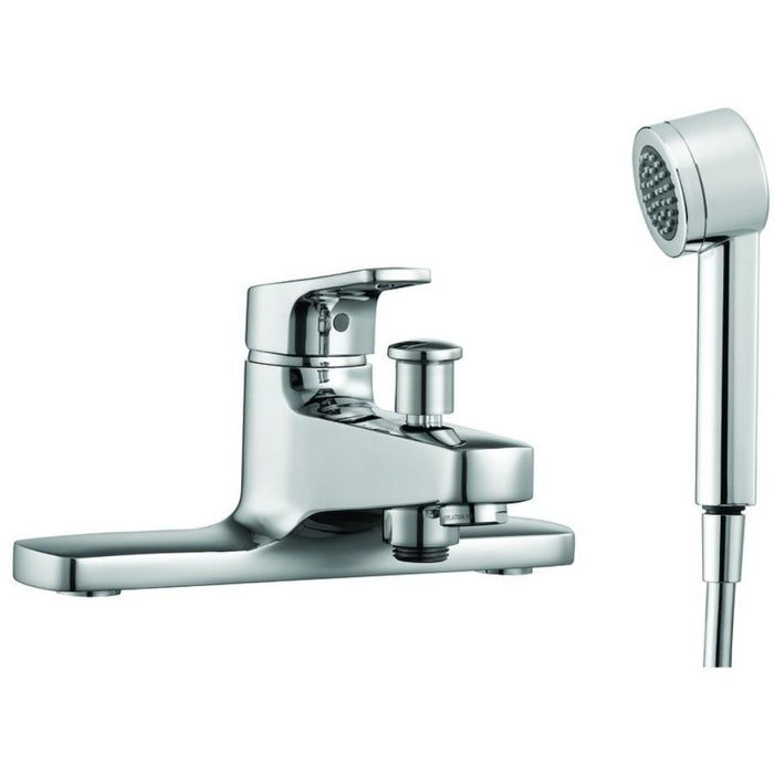 Laufen City Pro Bath Shower Mixer with hose and handset - Chrome
