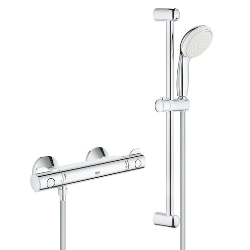 "Grohe Grohtherm 800 Thermostatic Bar Shower Mixer 1/2"" with Shower Set"