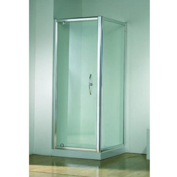 Kudos Original Pivot Door To suit shower tray - Silver Frame