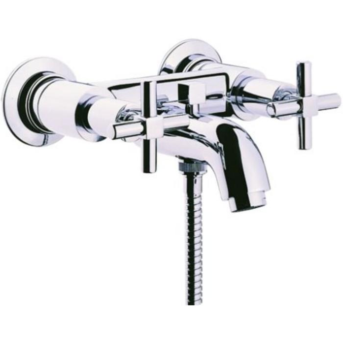 Vitra Uno Bath shower mixer with hose and handset - Chrome