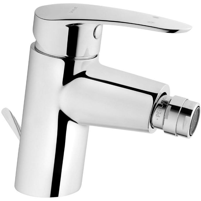 Vitra Dynamic S  Monobloc Bidet Mixer with pop-up waste