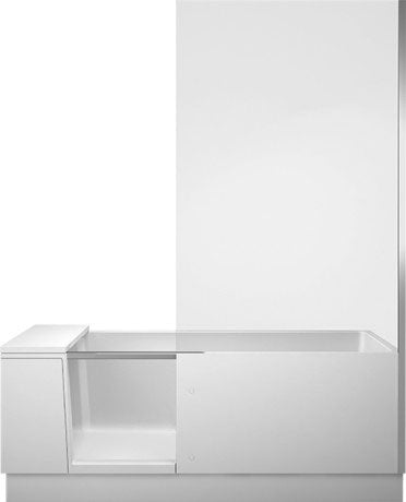 Duravit 1700 x 750mm Corner Shower Bath With Transparent Glass