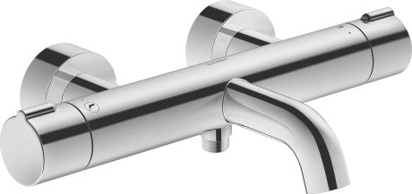 Duravit C.1 Exposed Thermostatic bath mixer - Surface Chrome