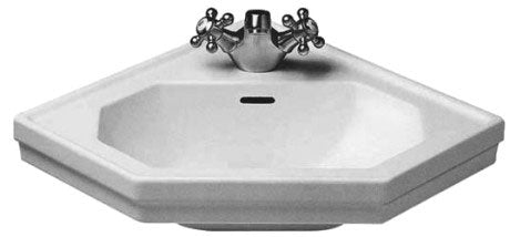 Duravit 1930 Series Handrinse Corner Basin - 1 TH