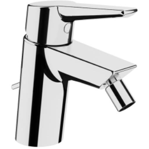 Vitra Solid S Monobloc Bidet Mixer with pop-up waste - Chrome