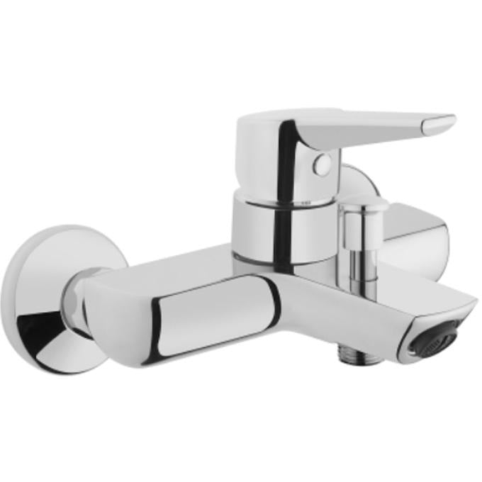 Vitra Solid S Bath shower mixer with hose and handset - Chrome