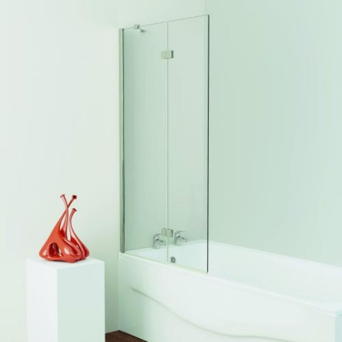 Kudos 2 Panel In-Fold Bath Screen 1500h x 875mm - Silver