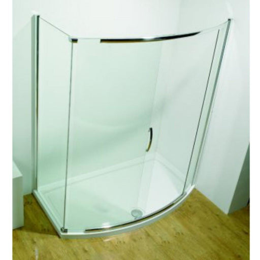 Kudos Infinite Semi-Frameless 1200mm Bow Fronted Slider Side access (1170-12010mm) - Silver Frame