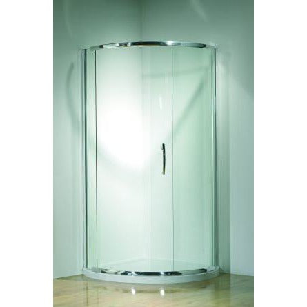 Kudos Infinite Semi-Frameless 1000mm Curved Sliding Enclosure 1000 x 1000mm - Silver Frame