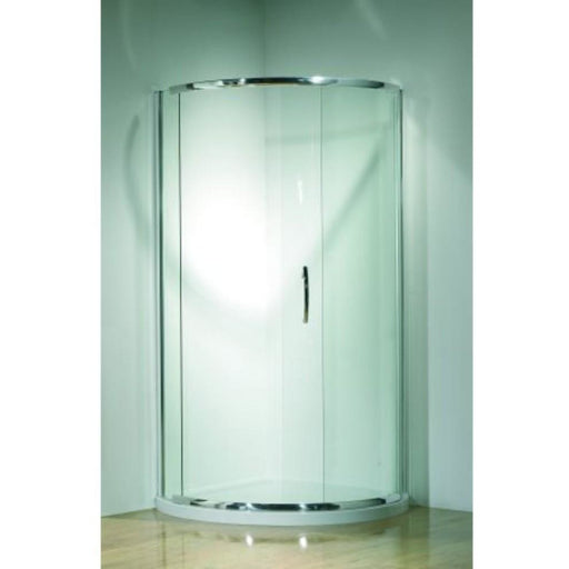 Kudos Infinite Semi-Frameless 910mm Curved Sliding Enclosure - 910 x 910mm - Silver Frame