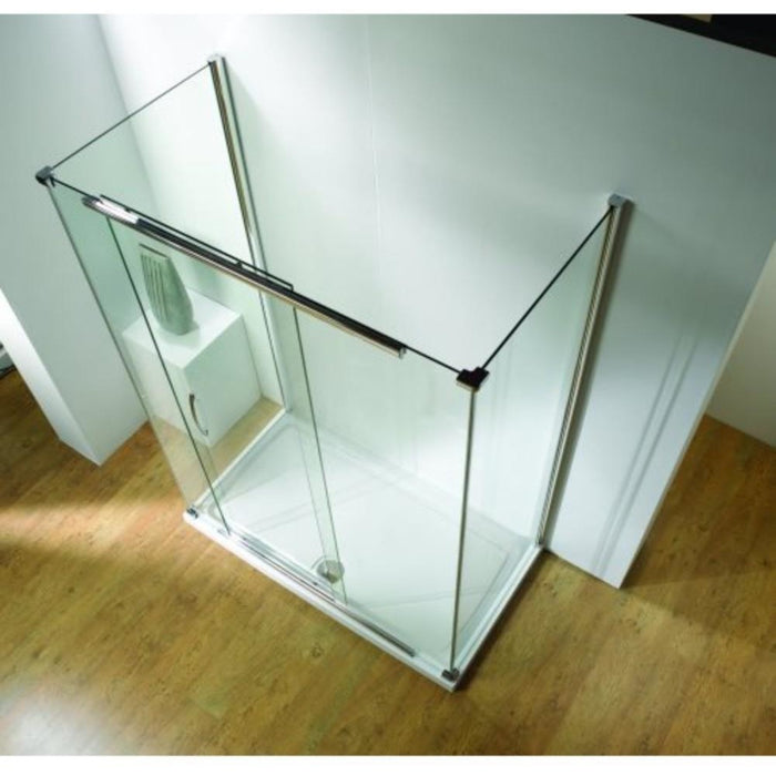 Kudos Infinite Semi-Frameless Sliding Door - Silver Frame