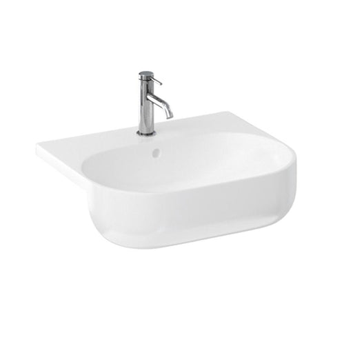 Britton Milan Semi Recessed Basin - 1 TBH