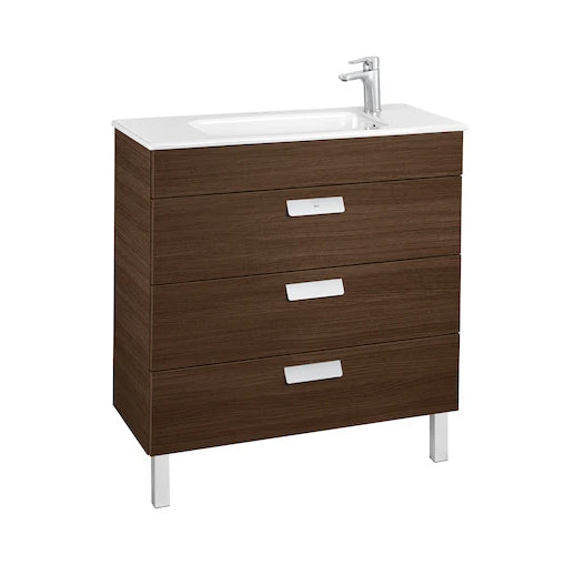 Roca Debba Unik compact base unit with 3 drawers and basin