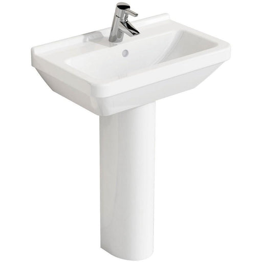 Vitra S50 Compact Basin 55 x 37cm. One tap hole and Padestal