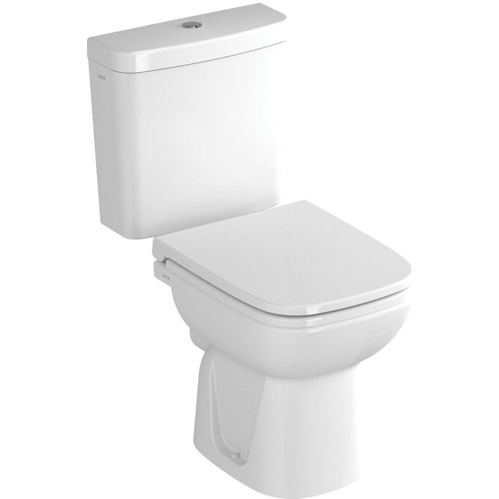 Vitra S20 Toilet Seat and cover with chrome hinges - White
