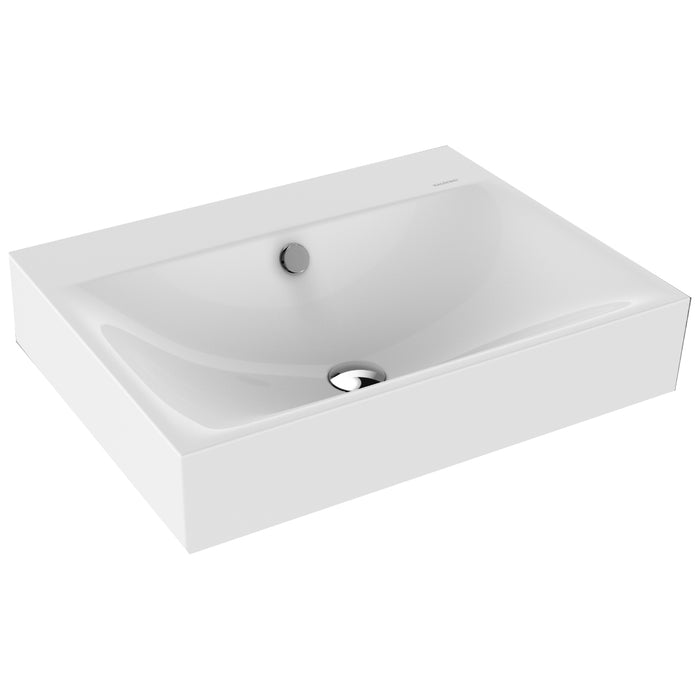 Kaldewei Ambiente Silenio Wall Hung Basin One tap hole