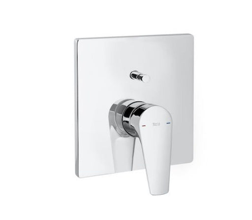 Roca Atlas Built-in Bath Shower Mixer Valve With Automatic Diverter - Chrome