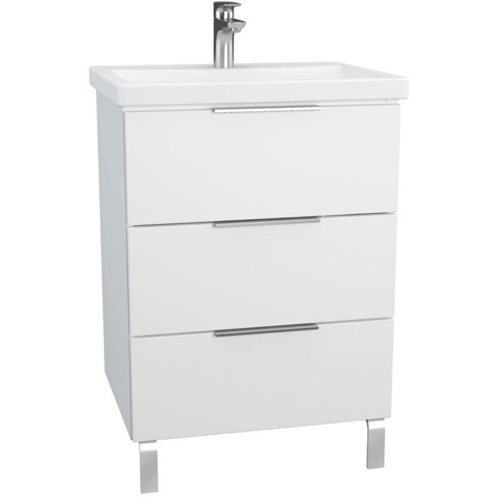 Vitra Ecora 3 Drawer Washbasin Unit - One tap hole with legs
