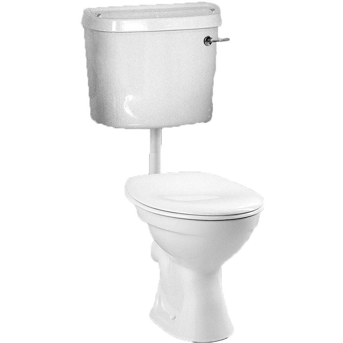 Vitra Comm Low Level cistern fittings - White
