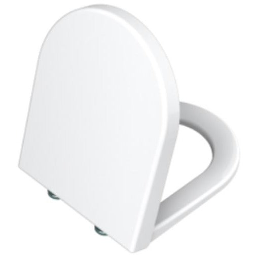 Vitra S50 Soft close seat and cover with chrome hinges - White