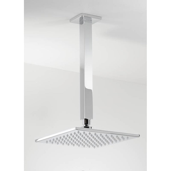 Abode Fixed 7mm Square Showerhead - Chrome