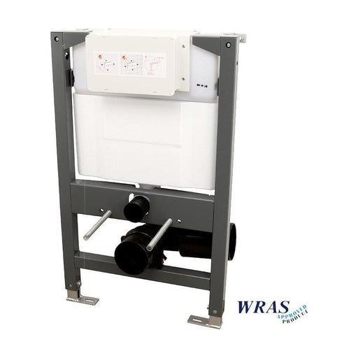 Abacus Essentials WC Frame With Dual Flush Cistern - White
