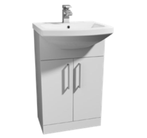Kartell Trim 500mm Semi Recessed/Cabinet Basin - 1 TH