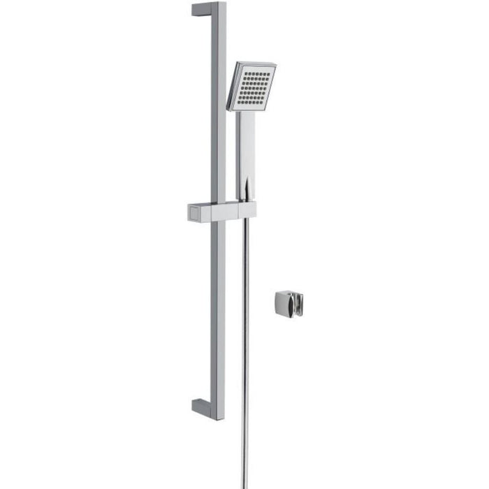 Vitra Q Line Hand Shower with Slide Rail - Chrome