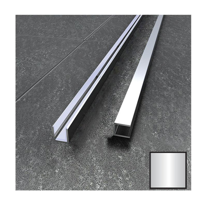 Vessini Surface Channel - Polished Aluminium
