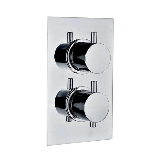 Abacus Essentials Thermostatic Round Concealed Shower Valve Outlet - Chrome