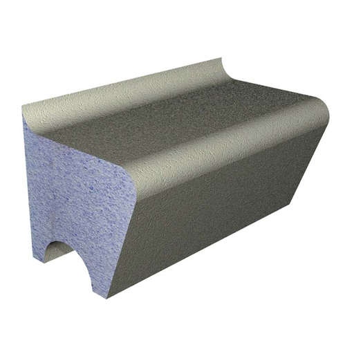 Abacus Waterproof Tileable Shower Seat- Standard Back
