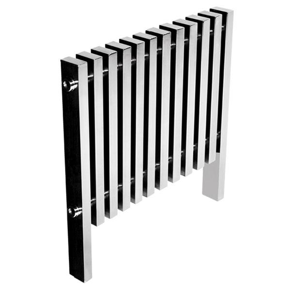 Abacus Kolonna Square Designer Radiator-Polished StaInless steel