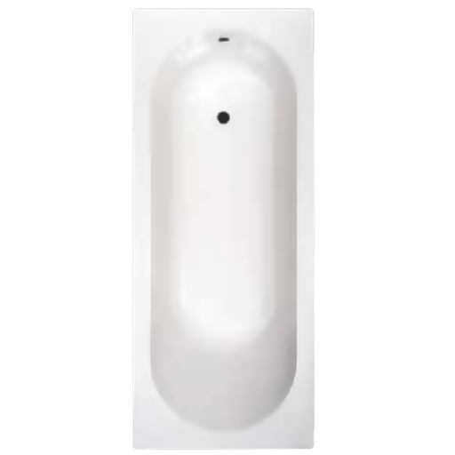 Abacus Ben de Lisi Single Ended Rectangular Bath - 0 Tap Hole - White
