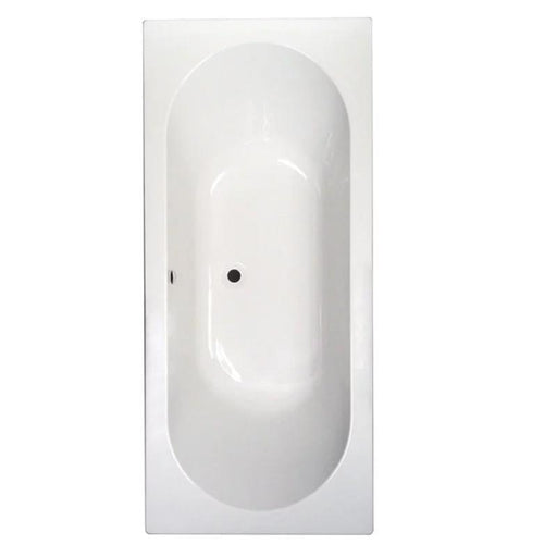 Abacus Ben de Lisi Double Ended Rectangular Bath - 0 Tap Hole - White