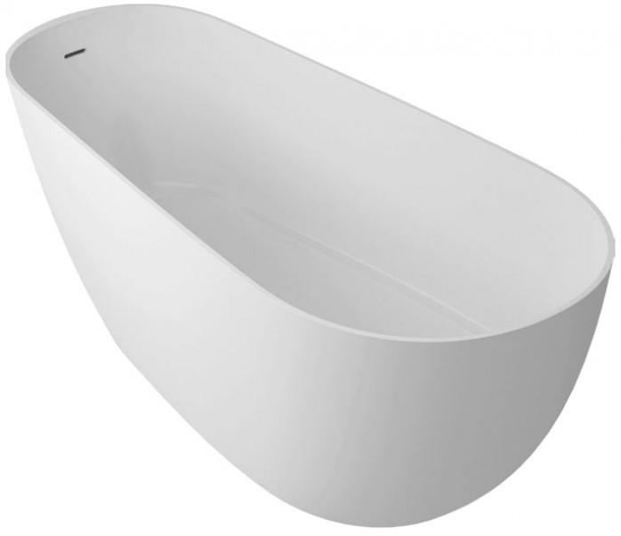 Abacus Lugano Freestanding Bath with Internal Overflow-1700mm x 700mm- 0 Tap Holes - White