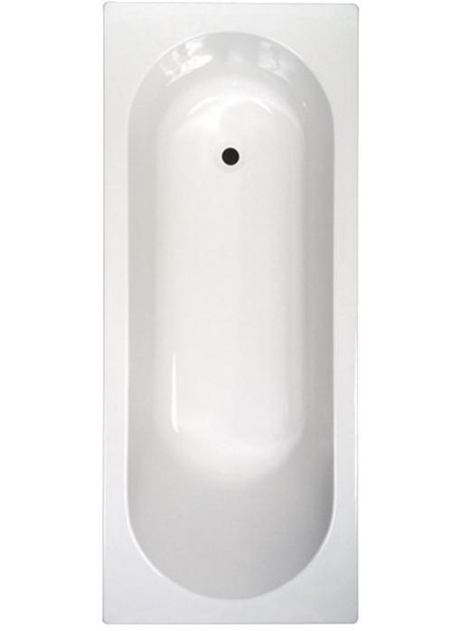 Abacus Single Ended Rectangular Bath - 0 Tap Hole - White