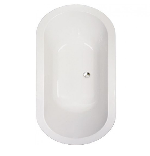 Vessini Series 1 Double Ended Oval Bath-1800mm X 800mm - 0 Tap Hole - White