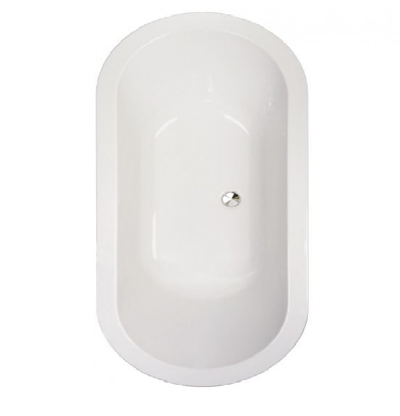 Abacus Series 1 Double Ended Oval Bath - 0 Tap Hole - White