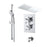 Abacus Emotion Thermostatic Cross Head Concealed Shower Mixer with Rectangular Head and Round Handset-Chrome