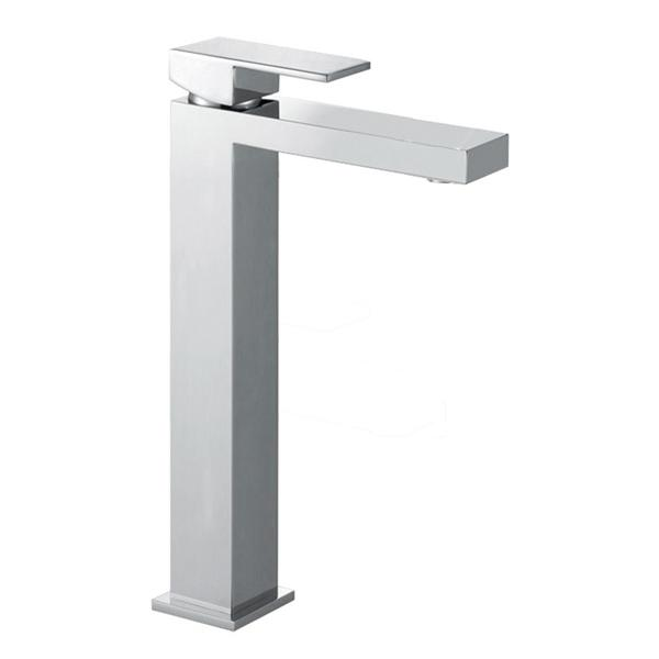 Abacus Plan Tall Mono Basin Mixer Tap-Chome