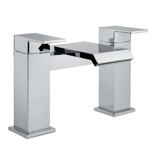 Abacus Bloc Deck Mounted Bath Filler Tap-Chrome