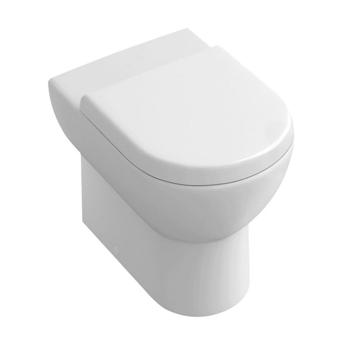 Abacus Simple Back to Wall Toilet-Slim Soft Close seat And Cover-White