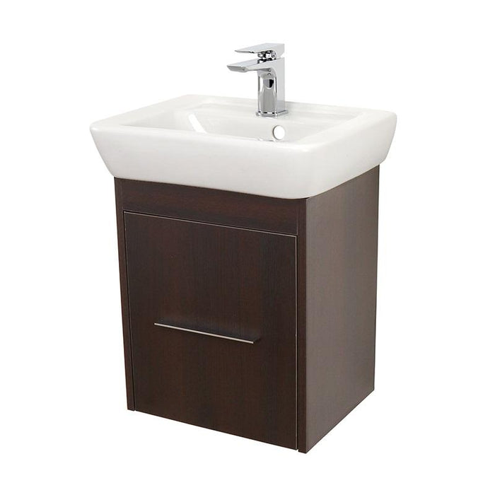 Abacus Simple 1-Drawer Wall Hung Cloakroom Vanity Unit With Basin