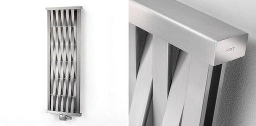 Aeon Wave Vertical Designer Radiator - Brushed Mat
