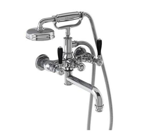Burlington Arcade Wall Mounted Bath Shower Mixer with hose and handset