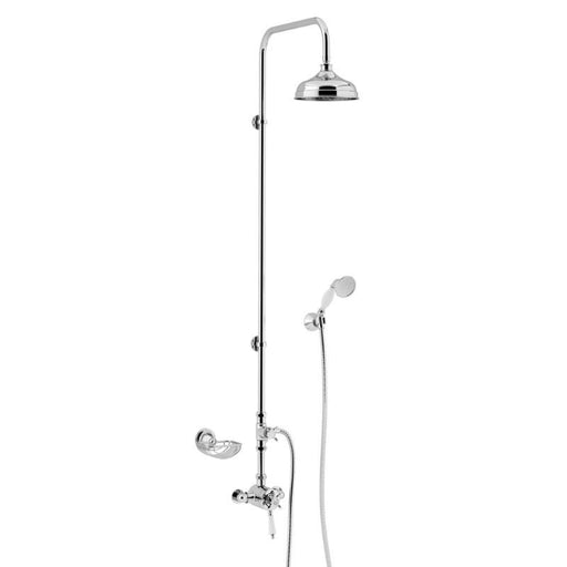 Heritage Avenbury Exposed Shower with Deluxe Fixed Riser Kit & Diverter to Handset Chrome
