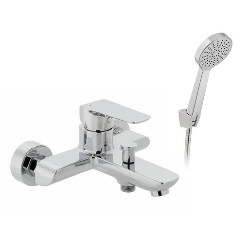 Vado Vala Wall Mounted Bath Shower Mixer + Shower Kit
