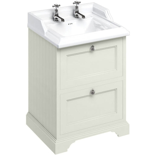 Burlington 65cm Vanity Unit with Two Drawers and Classic Basin