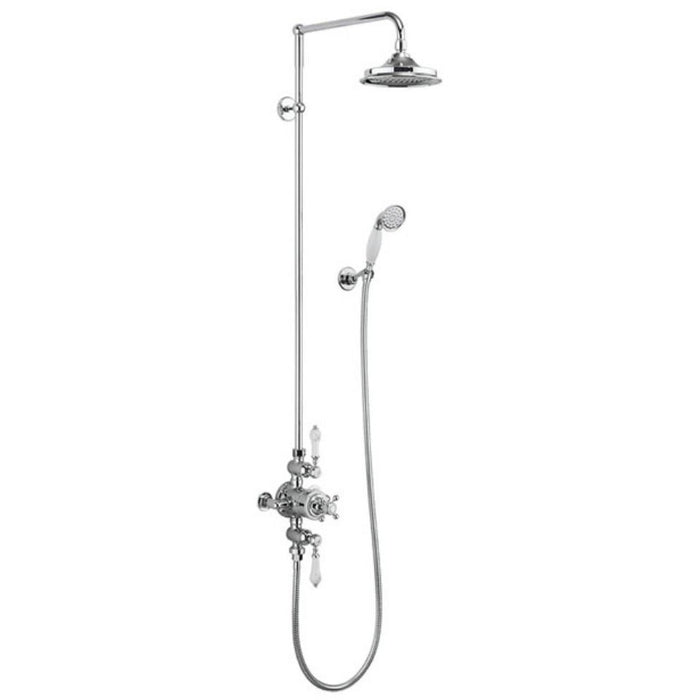 Burlington Showering Avon Exposed with Rigid Riser Rail, Fixed Head, Hose and Handset