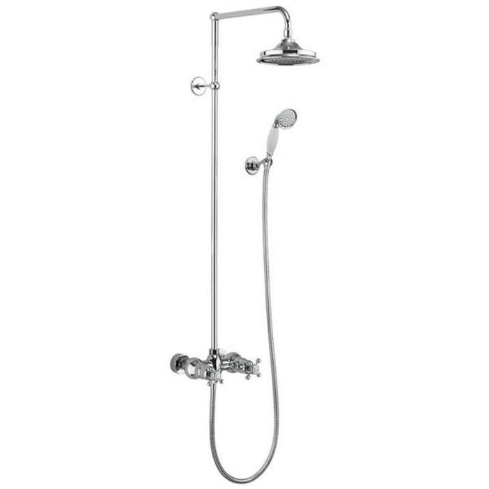 Burlington Showering Eden Exposed with Rigid Riser Rail and Fixed Head